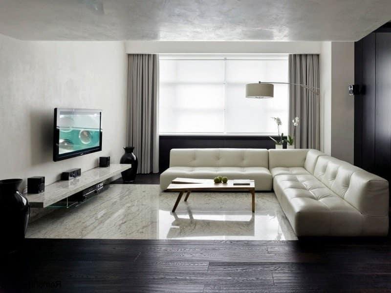 гостиная в современном стиле минимализм