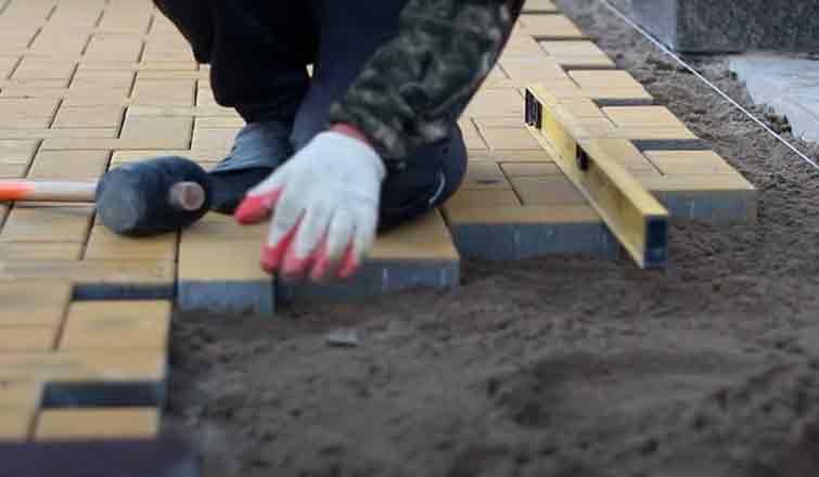 укладка тротуарной плитки своими руками пошаговая инструкция
