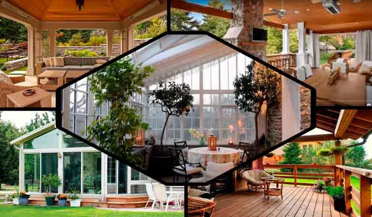 Красивая веранда в частном доме: веранда в доме дизайн фото