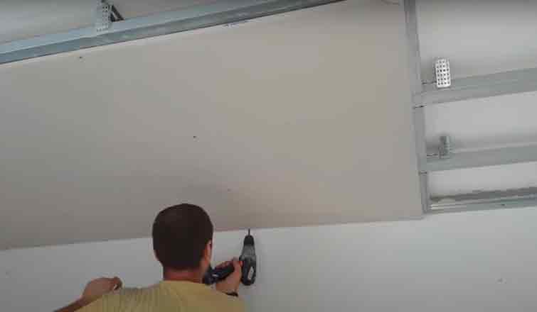 потолок из гипсокартона своими руками пошаговая инструкция