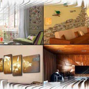 Виды внутренней отделки стен | Как разнообразить стены в гостиной
