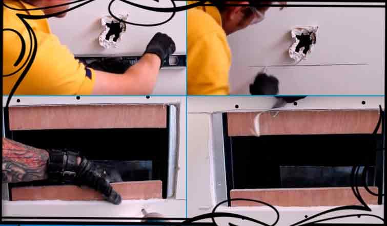 как заделать дыру в гипсокартоне