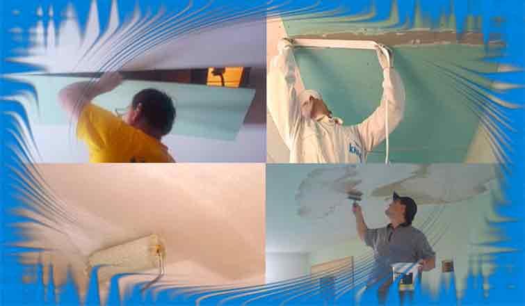 Ремонт потолка из гипсокартона | Как заделать дыру в гипсокартоне