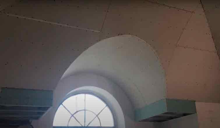 Как установить сводчатый потолок
